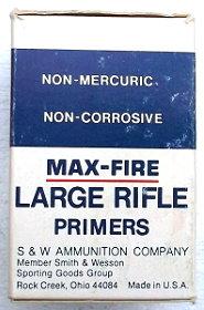 Side of S&W  Alcan Maxfire primer box